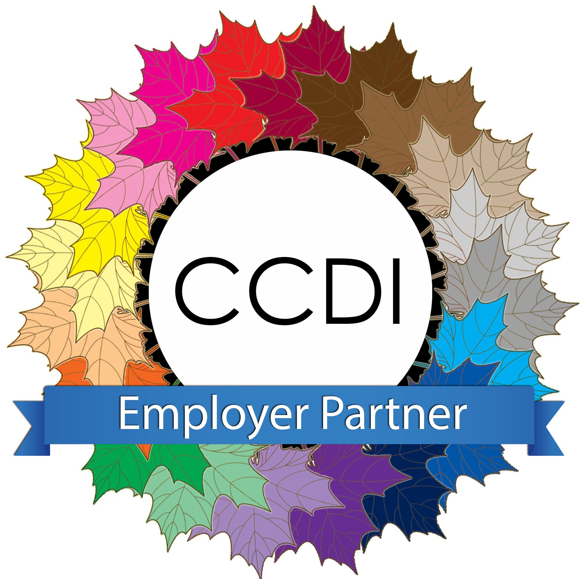 Colourful leaf CCDI Employer Partner logo